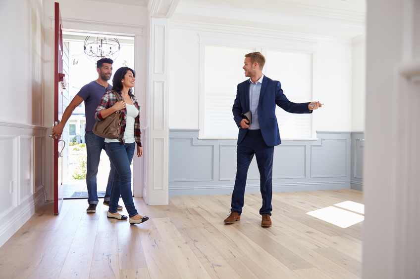 touring a new construction home with a sellers agent