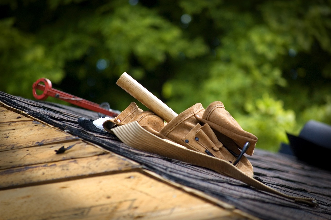 making roofing repairs