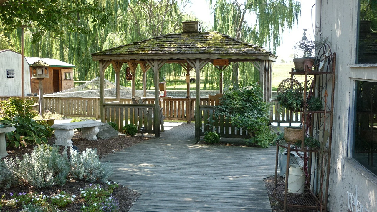 charming gazebo and other deck maintenance