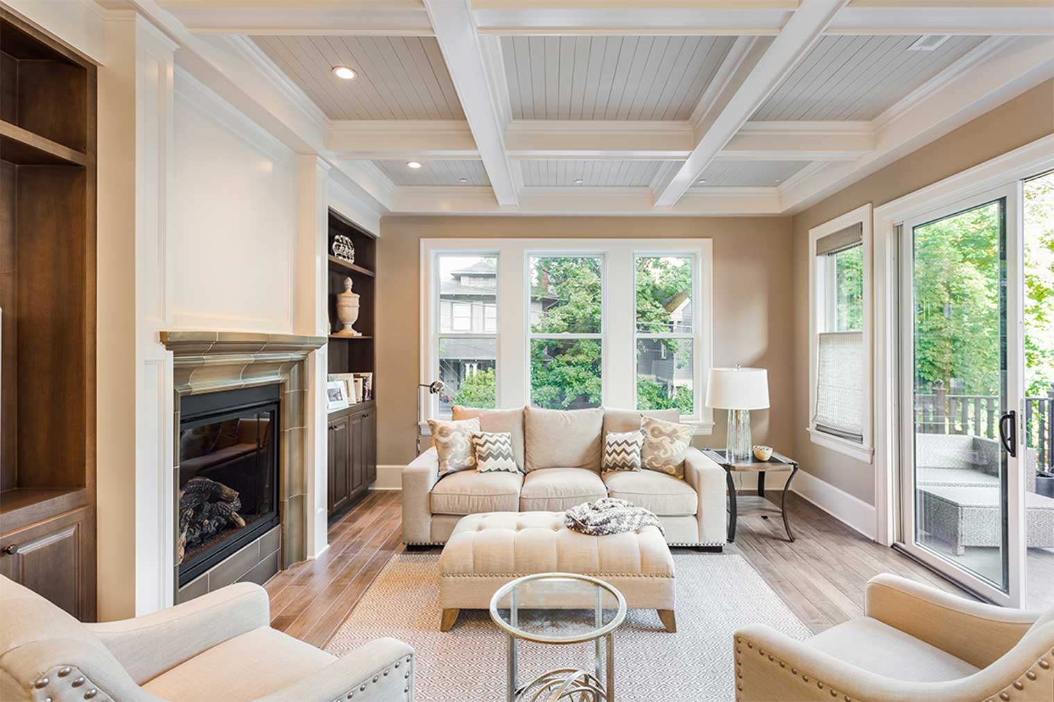living room painted with neutral colors