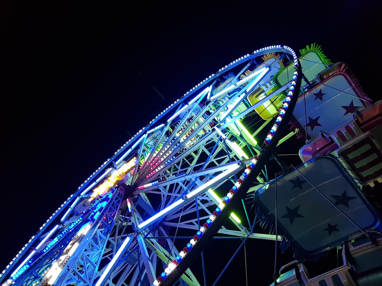 carnival rides at the clayton harvest festival 2019