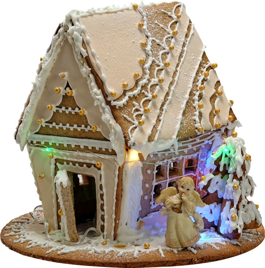 angel gingerbread house