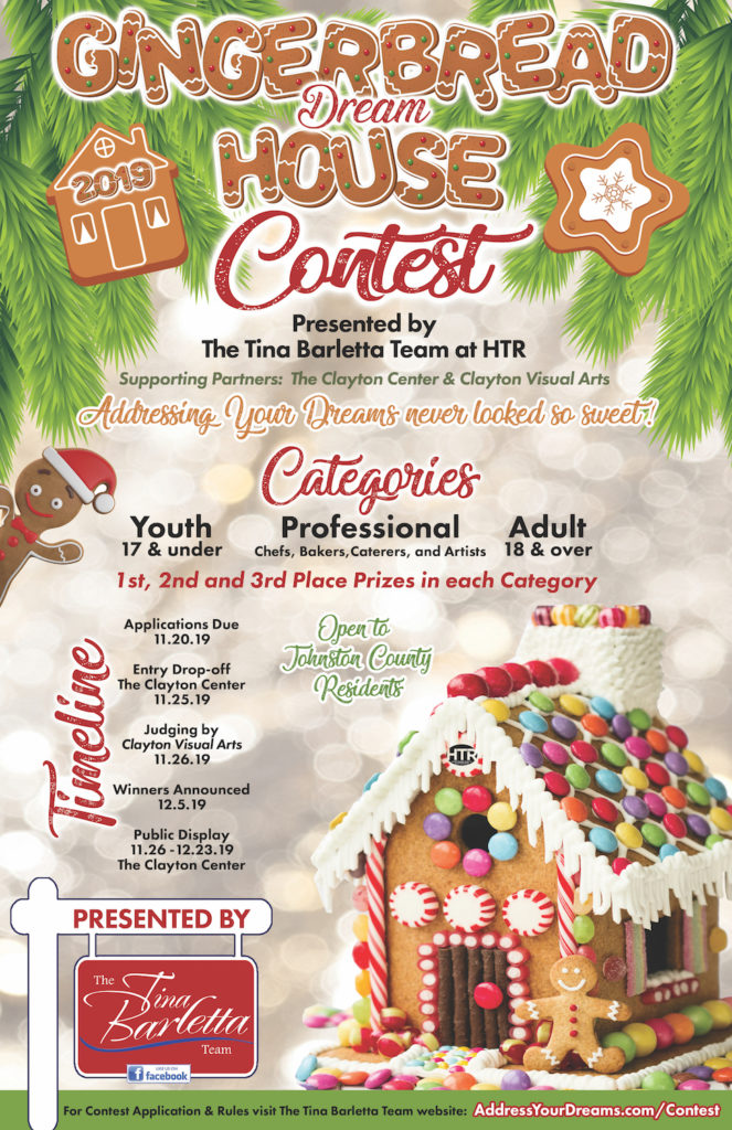 Clayton Gingerbread Dream House Contest flyer