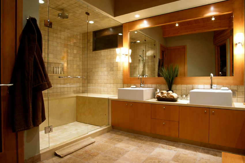 beautiful updated bathroom