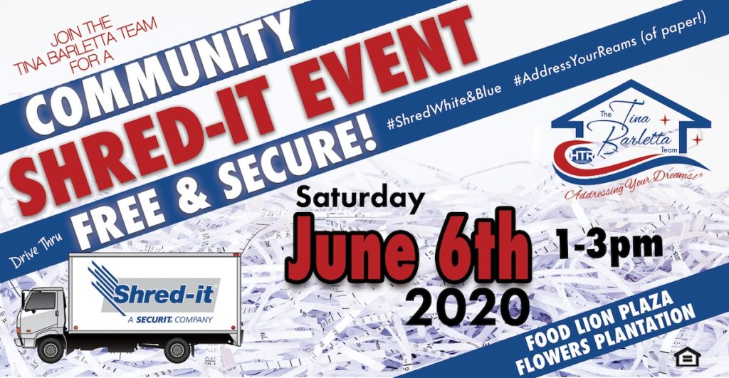 Community Shred-It Event graphic